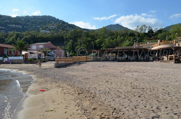 Restaurant on the Figueirette beach in Esterel - Theoule sur Mer