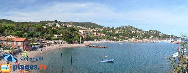 Panorama della spiaggia di Figueirette - Theoule sur Mer