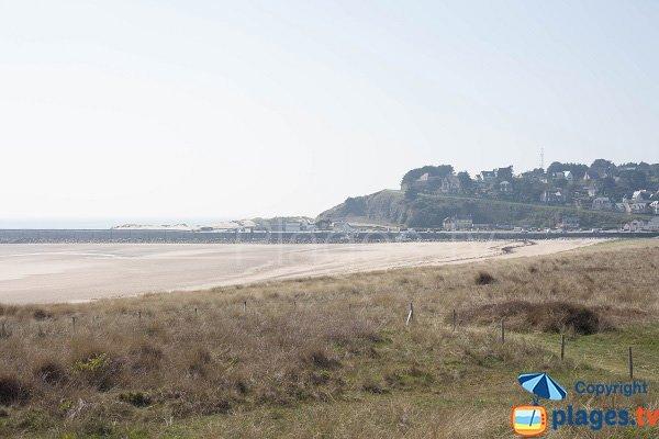 Photo de la plage de la Flèche dunaire de Barneville Carteret