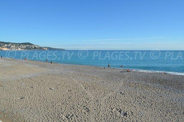 Plage de sable de la Florida à Nice