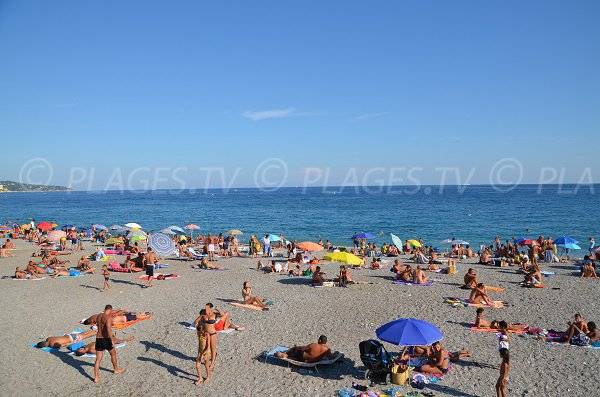 Florida beach in summer in Nice