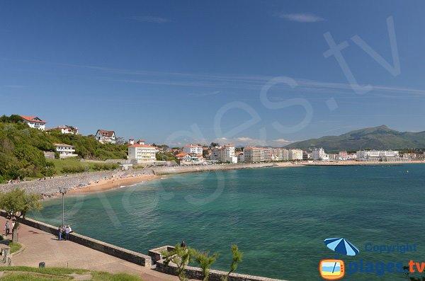 Photo de la plage des Flots Bleus de St Jean de Luz