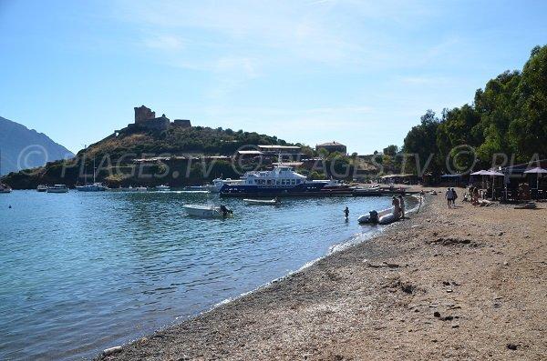 Port and beach of Girolata in Corsica