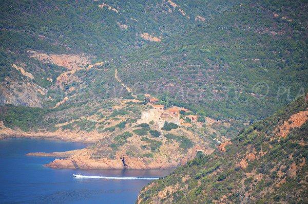 Vue aérienne de Girolata - Corse