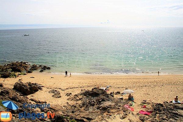 Rochers sur la plage du Fogeo - Arzon