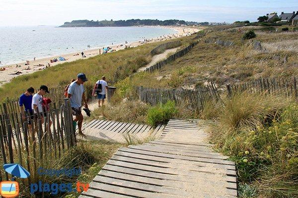 Accès à la plage du Fogeo à Arzon