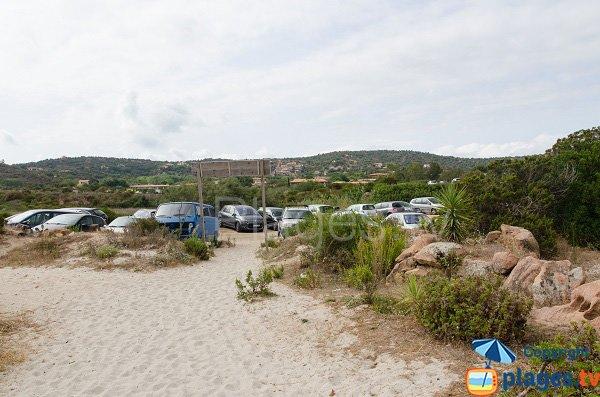 Parking de la plage de Folacca - Porto-Vecchio