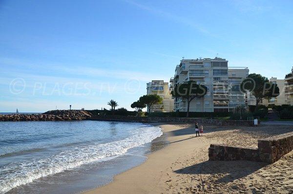 Casino beach in Mandelieu