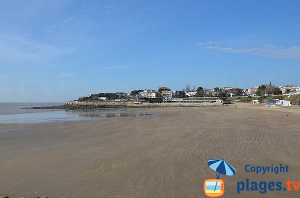 Foncillon beach in Royan in France