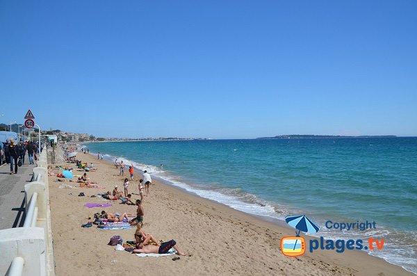 Photo de la plage de Font Veyre à Cannes la Bocca
