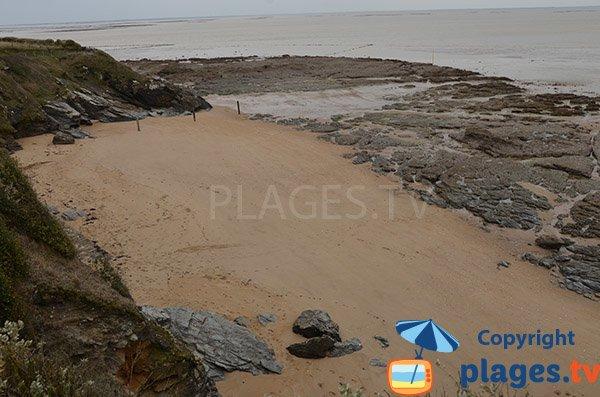 Grande crique de sable à Pornic - Fontaine aux Bretons