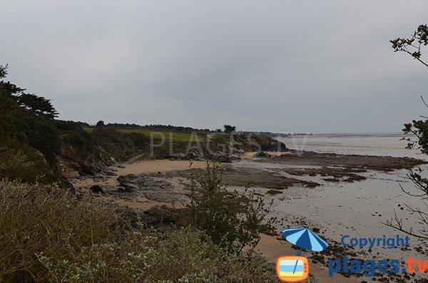 Foto della spiaggia della Fontaine aux Bretons a Pornic - Francia