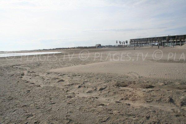 Promenade de Sète vue depuis la plage de la Fontaine