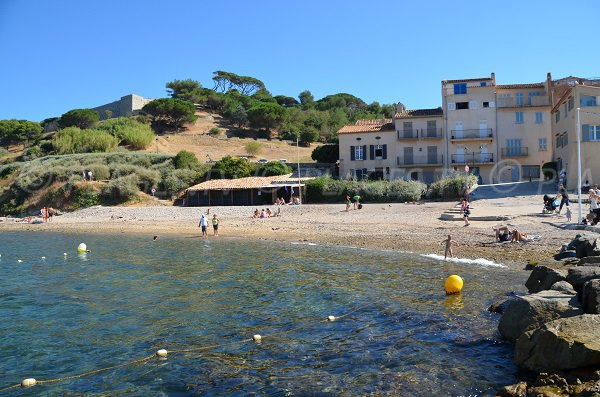 Photo of the Fontanette beach in Saint Tropez - France