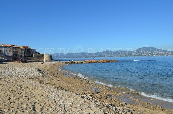 Beach of Fontanette in St Tropez