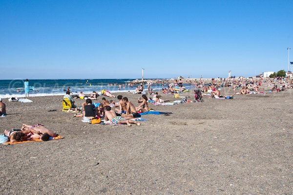 Beach in the centre of Banyuls sur Mer