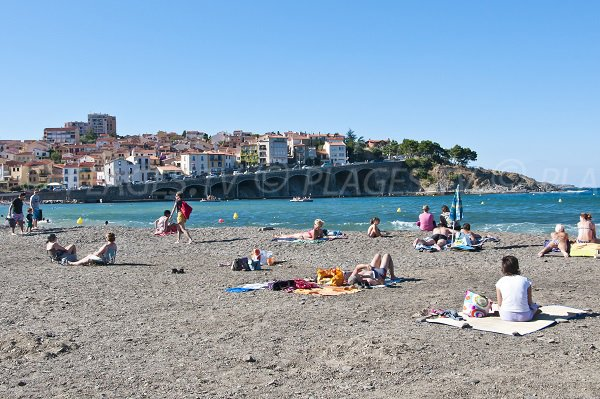 Beach in Banyuls sur Mer - view on Cap Ona