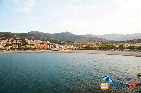 Photo of main beach of Banyuls sur Mer in France