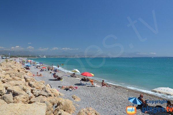 Partie sud de la plage de la Fontonne - Antibes