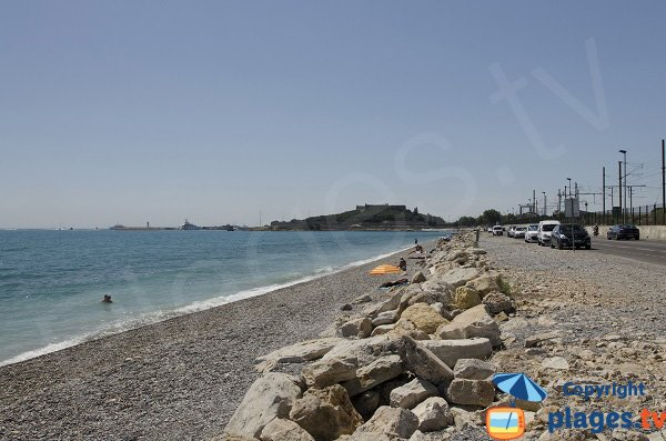Beach between Antibes and Villeneuve-Loubet