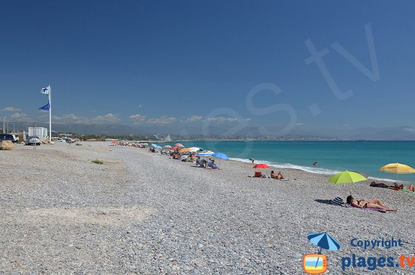 Photo of Fontonne beach in Antibes in France