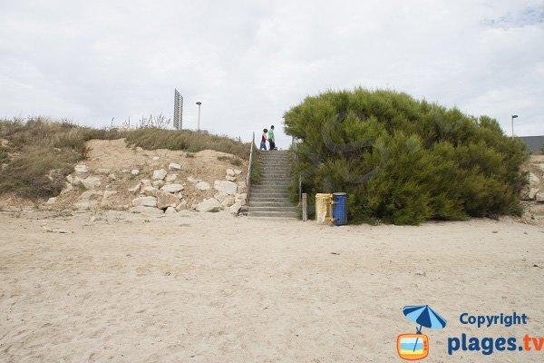Accès à la plage de Fort Bloqué - 56