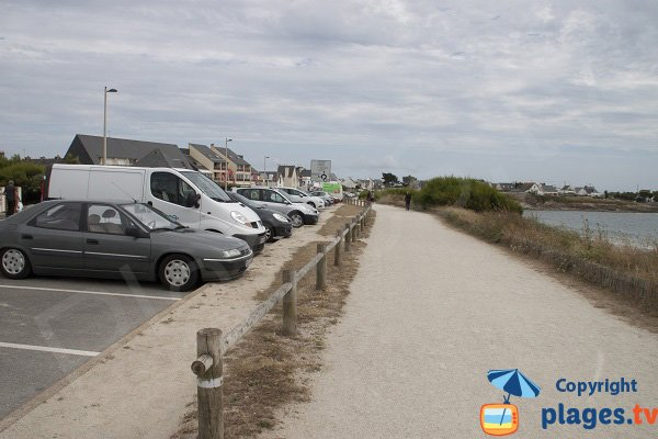 Parking of Fort Bloqué beach - France