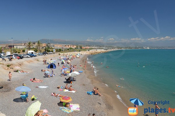 Photo of the beach of Fort Carré in Antibes - France