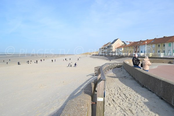 Beach of Fort Mahon in Picardy in France
