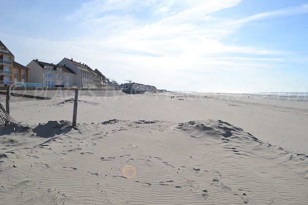 Beach in Fort Mahon near the city center