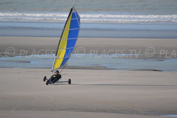 Sand yachting in Fort-Mahon-Plage