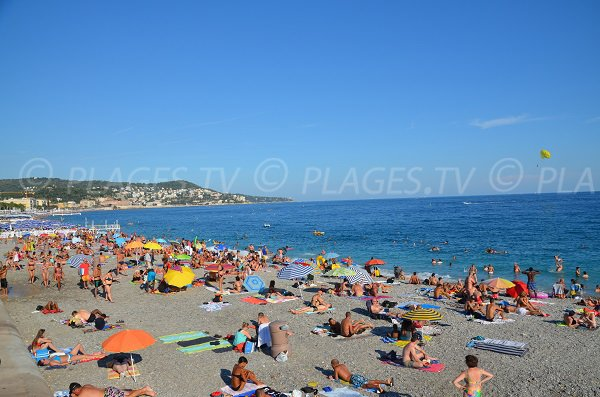 Photo of the Forum beach in Nice - France