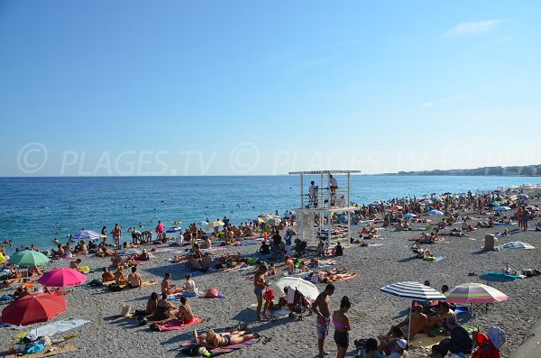 Forum beach in Nice in France