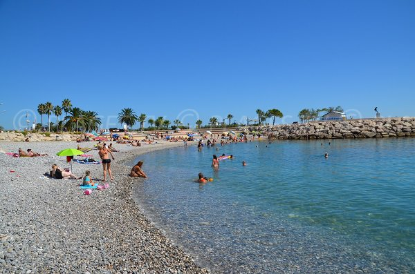 Beach in the museum Cocteau area in Menton