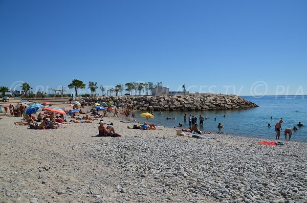 Non smoking beach in Menton - France