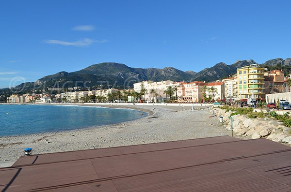 Fossan beach in Menton in winter