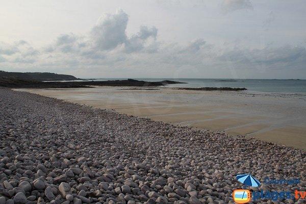Spiaggia della Fosse a Erquy in Francia