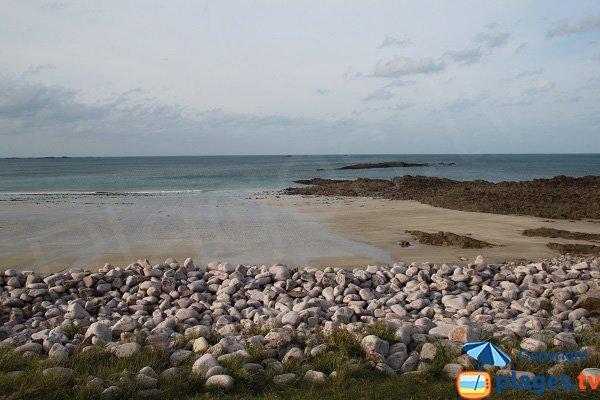 Foto della spiaggia della Fosse Eyrand a Erquy in Francia