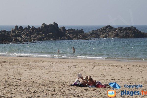 Plongée sur la plage de la Fosse à Plévenon