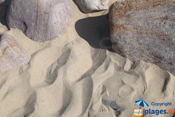 Sable fin sur la plage de la Fosse à Plévenon