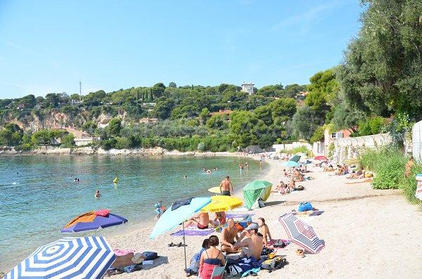 Belle plage à Saint Jean Cap Ferrat - Les Fosses