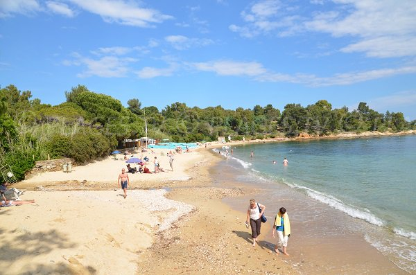 Photo of the Fossette beach in Lavandou - France