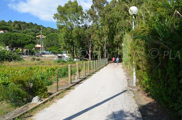 Access to the Fossette beach in Lavandou