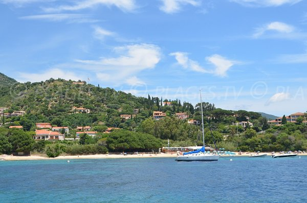 Fossette beach from the sea - Lavandou