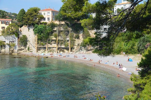 Photo of Fossettes beach in St Jean Cap Ferrat from coastal path