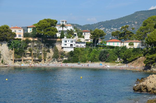 Panoramic view of Fossettes beach in Cap Ferrat