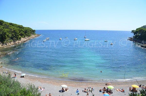 Fossettes beach in Saint Jean Cap Ferrat in France