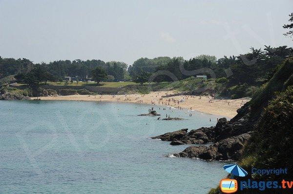 Fourberie beach in Saint Lunaire in France