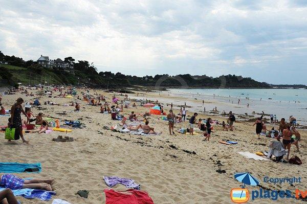Plage de la Fourberie à marée basse - Saint-Lunaire