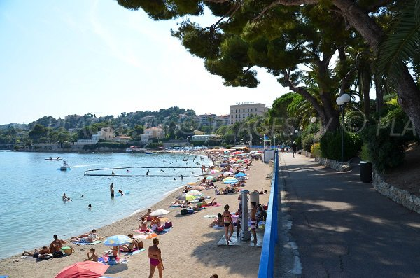 Fourmis beach in Beaulieu sur Mer in France